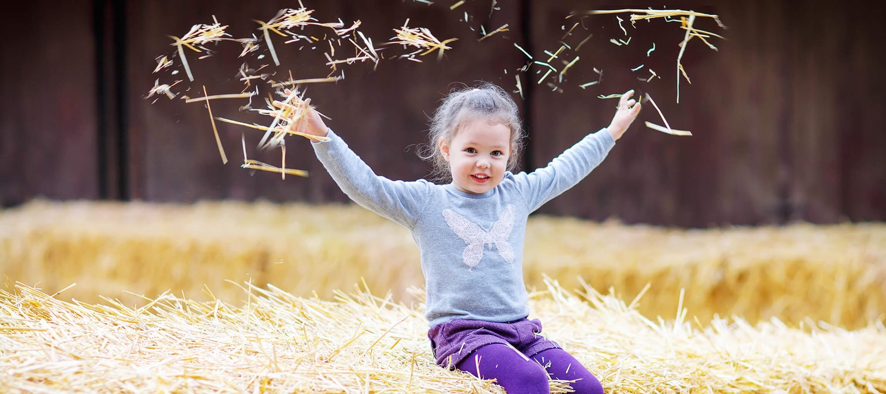 Girl in Hay