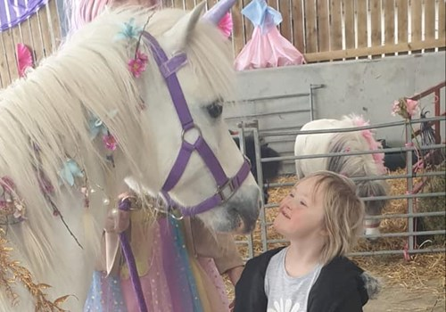 Child meeting Unicorn