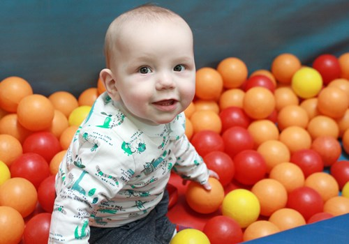 Toddler in Ball Pit